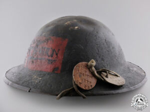 WANTED!! Tom Parton  48 highlanders WWI helmet and dog tags!