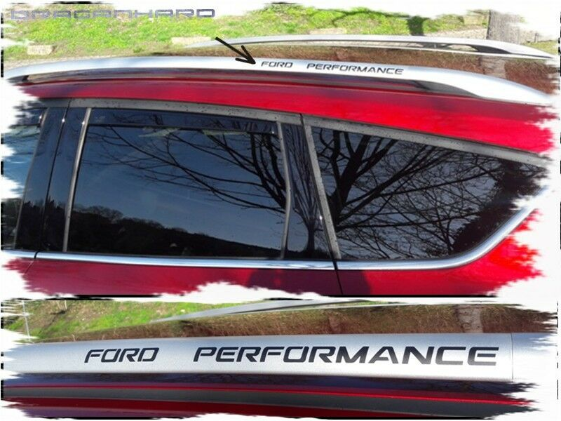 Ford Performance Dachreling Aufkleber Schwarz Tuning Sticke Auto Styling