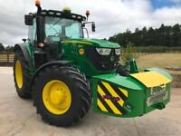 2018 67 Plate JOHN DEERE 6155R Tractor 60 Hours Only With Weight Box