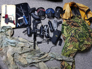 HUGE lot of paintball gear