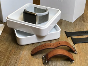 Apple Watch Stainless Steel 42mm with box and three bands