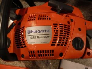 "New Husqvarna 455 Chainsaw 18""Bar-never had fuel in it.chain saw"