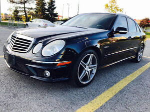 2008 MERCEDES BENZ E63 AMG IN IMMACULATE SHAPE BLACK ON BLACK!!!