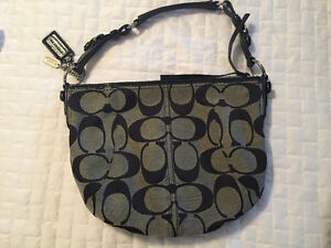 Coach purse for sale - black and grey