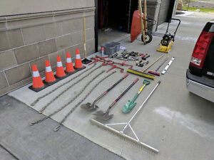 Landscaping Package - Shovels, Binders, Wheel Barrow Etc
