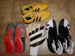 Asorted Sports shoes and accessories. Need gone asap.