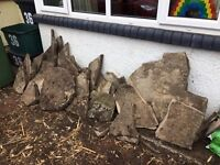 FREE - Big flat stones & paving slabs - in a range of shapes & sizes
