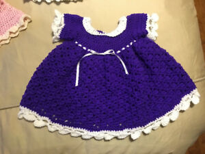 Baby dresses newborn 0-3 months and 3-6 months (hand crochet
