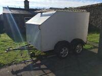 Twin axle twin deck kart trailer