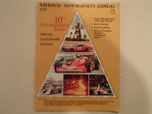 NATIONAL MOTORSPORTS ANNUAL 1976 - 10th Anniversary Issue - Spec