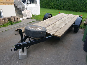 trailer plate forme 12pied x4 pied et 5 ponces