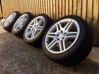 "17"" genuine Mercedes Amg alloy wheels and tyres 5x112 c class staggered"