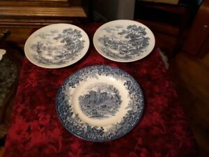 Wedgwood blue and white plates - $10 each