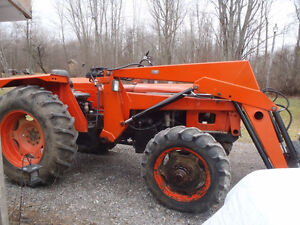 65hp Diesel 4x4 Tractor with loader and snow plow