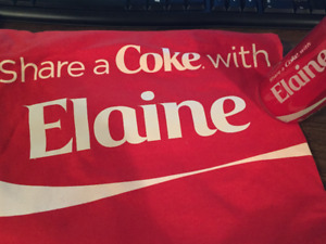 """Share a Coke medium sized T-Shirt & Can with name """"Elaine"""""""