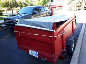 4 by 8 fold up utility  trailer