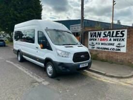 2016 16 FORD TRANSIT 2.2 460 H/R BUS 18 STR 124 BHP**17K MILES**FINANCE AVAILABL