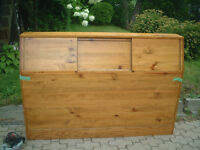 SOLID PINE QUEEN SIZED HEADBOARD