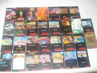 Grande Collection de livrets jeux - SNES,N64,GCUBE,PS1,XBOX,PS2