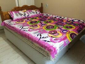 King size double cot+ bed