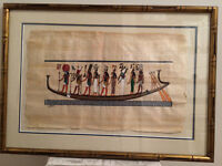 Egyption Papyrus Paper framed