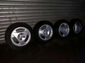 "Vauxhall Astra 14/"" Alloy Wheels 4x100 Rally Auto test Corsa Nova Toyota"
