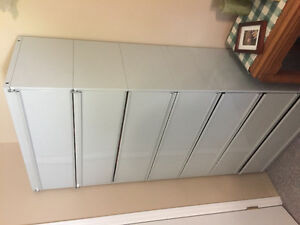 Two Metal filing Cabinets with Privacy doors