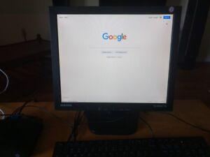 """Desktop Computer- HP Thin PC, Samsung monitor 17"""", Dell keyboard"""