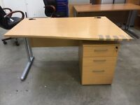 Office desk with cabinet