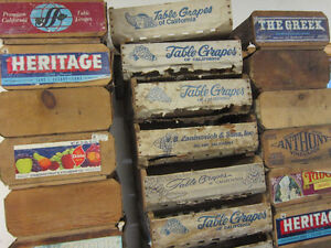 Vintage California Table Grape Boxes. ** ONLY $10. Each ** Kitchener / Waterloo Kitchener Area image 10