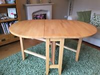 Folding kitchen table and chairs