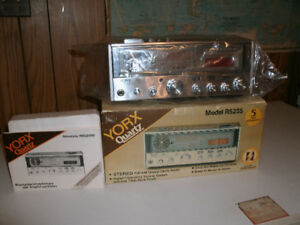 New  never used, Vintage York Quartz Stereo/FM/AM Clock Radio