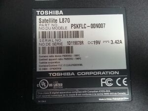 Toshiba Satllite (L870 & C650D) Ram,Fan,Mother board and moor