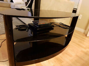Mint condition glass TV stand