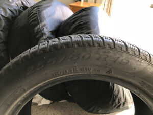 Excellent Pirelli Winter Tires, 255/50 R19
