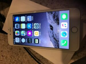 Unlocked Silver iPhone 6 Plus 64 GB
