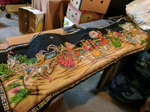 Authentic Indian Hand Make Silk Paintings