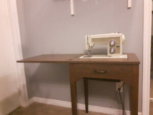 1970s Kenmore Sewing Machine Table