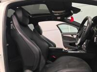 2014 64 MERCEDES BENZ C250 CDI AMG SPORT PLUS + AUTO WHITE + PAN ROOF + SAT NAV