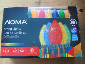 Noma Xmas MULTI Colored C9 LED lights ( 50 )