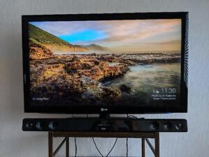TV 47 po LG + Barre de son LG/47 inch TV LG  + Sound Bar LG