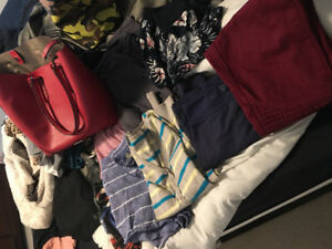 Clothing lot and purse