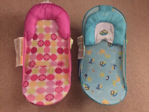 Two Summer Infant Deluxe Baby Bathers