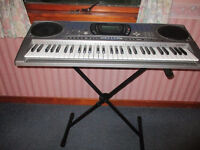 Casio Electric Keyboard CTK671,Adaptor,Stand,Instructions,2 Music Books,Excellent Condition