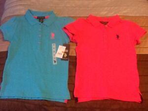 Girls Size 7 Polo Shirts (2)