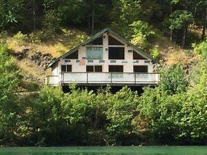 Cabin on lake