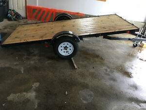 Utility trailer,11x5 feet, custom, tilted