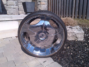 24 inch Driv rims with brand new Fullway tires