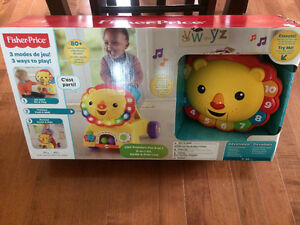 NEW - Fisher-Price 3-in-1 Sit, Stride & Ride Lion FRENCH