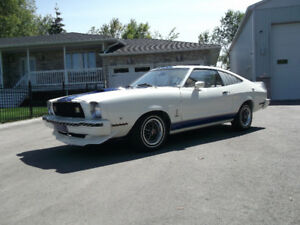 1977 MUSTANG COBRA  V8-302  4-SPEED  22,000 ORIGINAL MILES